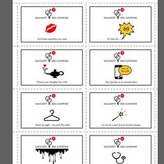 Sex Coupons 52 messages Naughty Cards For Boyfriend Coupons D'amour, Love Coupons, Printable Coupons, Printable Paper, Printables, Coupons For Boyfriend, Cards For Boyfriend, Boyfriend Gifts, Date Night Jar