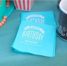 If you're celebrating a summer birthday, choose an outdoor movie-themed party with yummy snacks the kids will love and a personalized element on the little details for their big day.
