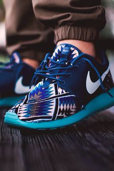 Blue tribal Nike