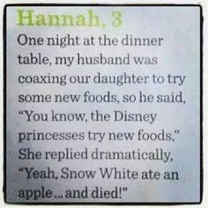 Kids say the darndest things...