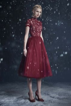 Paolo Sebastian 2016 Autumn - Winter Couture Wedding Dress Collection 'Snow…