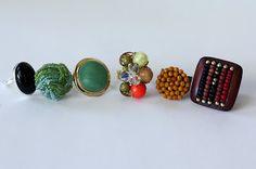 Turn Grandma's vintage earrings into rings! By Southern Scraps Love This!