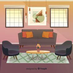 flat living modern freepik