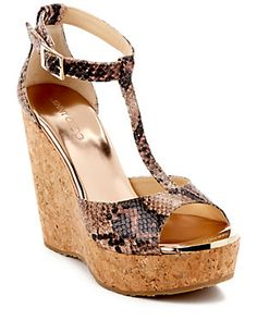 Jimmy Choo Pela Snakeskin-Embossed Leather Wedge Sandal
