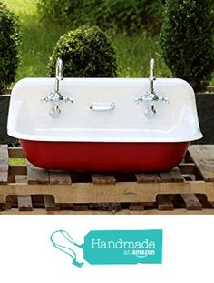 Large 1922 Refinished Farm Sink Double Drainboard High Back Cast ...