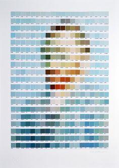 nick-smith-Pantone-arte-pixelado-autorretrato de Vincent van Gogh
