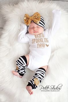 baby girl coming home outfit baby girl newborn girl by SkylarnMe