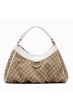 3e9c73598a2eb6 Beige/ebony GG fabric with off-white leathertrim light gold hardware single  non- · Gucci Hobo BagGucci ...