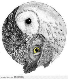 #owl #yinandyang #tattoo