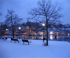 Stockholm , Sweden - Winter Night