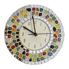 You searched for Clock - Mosaic Supplies Limited Clock Craft, Diy Clock, Mosaic Art Projects, Mosaic Crafts, Mosaic Kits, Wall Watch, Mosaic Supplies, Cd Crafts, Mirror Tiles