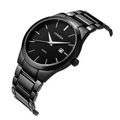 f4c67f0c401 Voeons Mens Watches Big Dial Auto Date Black Stainless steel Strap Watch  Features  Stainless steel watchband and alloy case with safety fold over  clasp