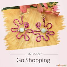 Freeform flower earrings available in different colors.     SHOP URL IN BIO    Shop: EarthJewelry. Check out our products now: http://ift.tt/2pYp24T . . .  #etsy #etsyseller #etsyshop #etsylove #etsyfinds #etsygifts #musthave #loveit #instacool #shop #shopping #onlineshopping #instashop #instagood #instafollow #photooftheday #picoftheday #love #OTstores #smallbiz #earthjewelry #wireearrings #purpleearrings #flowerearrings