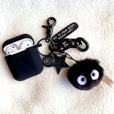 Cartoon Case for Apple Airpods 1 & 2 Charging Case, Cute Silicone Cartoon Japan Anime Spirited Away Black Soot Briquette Figures Character Soft Protective Airpod Cover Cases for Kids Teens G (Soot) Cute Ipod Cases, Iphone Cases, Totoro, Iphone Bluetooth, Accessoires Iphone, Earphone Case, Love Is In The Air, Air Pods, Airpod Case