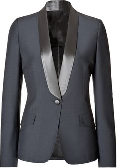 Maison Martin Margiela Wool-Mohair Tuxedo Blazer with Satin Lapel on shopstyle.com