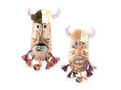 Ceramic Masks set of 2 by 99heads on Etsy