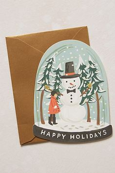 sweet snow globe holiday cards #anthrofave http://rstyle.me/n/tgnh2r9te
