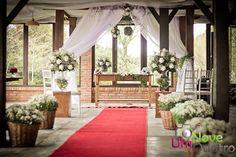 Cerimônia na parte interna do salão