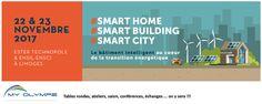 #SMARTHOME, #SMARTBUILDING, #SMARTCITY... 22 et 23/11 à LIMOGES avec #SMART-OLYMPE ;-)