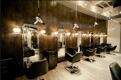 Love the blow dryers.. Great idea of hanging blow dryers. http://beautyplanet-salondesigns.com/