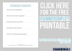 simplify your home over the summer with the Summer Simplify decluttering series