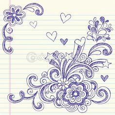 Sketchy Back to School Notebook Doodles — Imagen vectorial #5469960