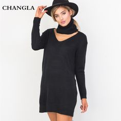 #aliexpress, #fashion, #outfit, #apparel, #shoes #aliexpress, #CHANGLA, #Autumn, #Halter, #Turtleneck, #Sweater, #Women, #Elegant, #Black, #Knitted, #Pullover, #Jumper, #Casual, #Winter, #Femme, #Sweaters