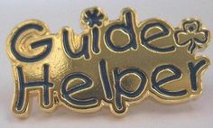 GIRL GUIDES AUSTRALIA GUIDE HELPER - METAL BADGE | eBay