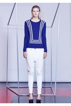 The Club Card Knit Pullover and Poker Denim Jean from the SS14 collection by CAMILLA AND MARC.