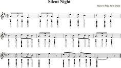 Silent night tin whistle music sheet