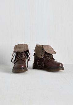 March in Pep Boot in Herringbone. Set a stylish new pace in these dark brown boots by Dr. #brown #modcloth