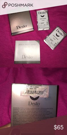 👀 DESIO LENS🎉 SALE ⚡️ New in box! Never been used! Expiration date shown above! Opened the package to show that there are 2 contacts in the box! The color is in DESERT DREAM ⚡️Price is firm ⚡️ free contact case with purchase 😀 Bundle for a discount 👍🏻 Desio  Accessories