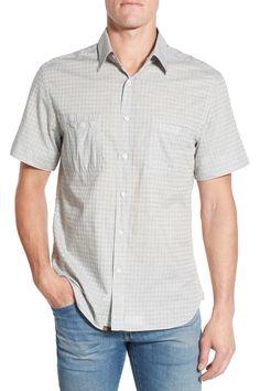 'Donelson' Standard Fit Short Sleeve Dobby Sport Shirt