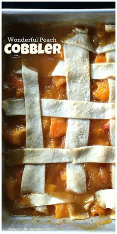 Enjoying Summer Foods with Wonderful Peach Cobbler Enjoy fresh peaches this season with this Wonderful Peach Cobbler recipe, perfect for your next entertaining moment! Summer entertaining can be as simple as inviting friends and family, pouring drink Fun Desserts, Delicious Desserts, Dessert Recipes, Summer Desserts, Yummy Food, Summer Recipes, Holiday Recipes, Top Recipes, Recipies