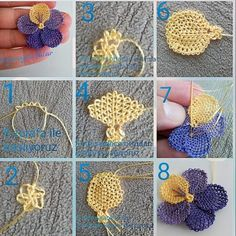 Maternal Hot Knit Baby Vest Cardigan Booties Beanie Explained Knitting Models - My CMS Needle Tatting, Needle Lace, Doll Shoe Patterns, Flower Patterns, Crochet Flower Tutorial, Crochet Flowers, Knitting For Kids, Baby Knitting, Knitting Patterns
