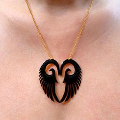 Angel Wing Necklace, Angel Wing Pendant, Gold Pendant, Pendant Necklace, Gold Necklace, Jewelry Box, Jewelery, Jewelry Necklaces, Gold Angel Wings