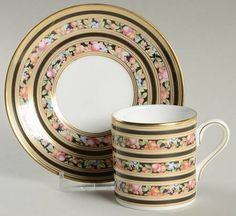 Wedgwood Clio Bond Shape Demitasse Cup and Saucer Set