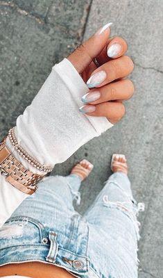 Almond Acrylic Nails, Best Acrylic Nails, Acrylic Nail Designs, Acrylic Art, Claw Nails Designs, Almond Nail Art, Simple Acrylic Nails, Nail Art Designs, Minimalist Nails