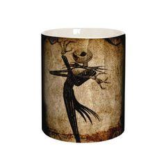 Rock Daddy. Nightmare Before Christmas koffie/thee mok van keramiek met een oversized print. Leuk om cadeau te geven.