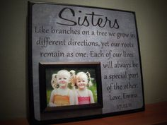 SISTERS Picture Frame Wedding Gift Like by YourPictureStory, $65.00