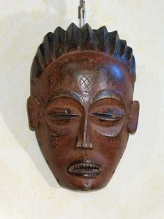 Antique for sale African Chokwe mask man's head Mask Head Sculpture Fine arts architecture