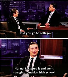 Zac Efron x High School Musical Zac Efron High School, Hight School Musical, High School Musical Quotes, Just For Laughs, Just For You, Oui Oui, Have A Laugh, Laugh Out Loud, Good Movies