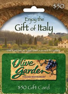 Chance to Win $100 Olive Garden Gift Cards!