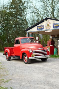 Red 1948 Chevy Truck