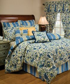 LOVE the colors...Take a look at this Porcelain Imperial Dress Comforter Set by Ellery Homestyles on #zulily today!