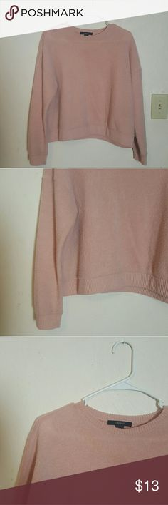 Sweater This lightwashed pink sweater is dainty and cute . this top is teddy bear soft and the material is pretty thin and stretchy . Forever 21 Sweaters