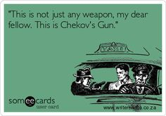 Literary Devices for Crime Writers - A MacGuffin and a Gun // I'd say this isn't just for crime/mystery writers. It can apply to pretty much any genre.