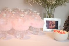 TUTU Water Bottles for Ballerina Themed baby shower. ADORABLE! www.HautePNK.com