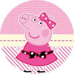 Miss Peppa Pig - Mini Kit Festa Infantil! Peppa Pig Images, Peppa Pig Cartoon, Dog Years Chart, Peppa Pig Painting, Peppa Pig Wallpaper, Papa Pig, Cumple Peppa Pig, Lol Doll Cake, Peppa Pig Family
