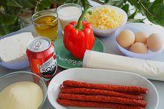 Τυρόπιτα σε Φόρμα Dessert Recipes, Desserts, Greek Recipes, Carrots, Sausage, Food And Drink, Cookies, Meat, Vegetables